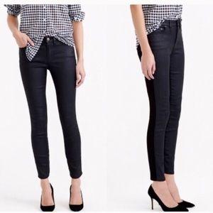 J CREW • Toothpick Ankle Black Skinny Jeans Sz26